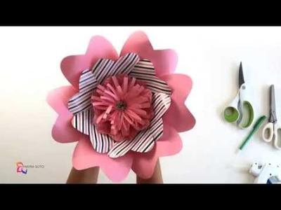 Tutorial Flor Corazon| Molde #3 | Mayra Soto | Ovalos Flower Paper Art