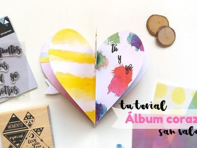 Tutorial mini álbum scrapbooking con forma de corazón para San Valentín   Scrapeando con Rocío