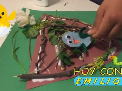 UN NIDO con PAJARITOS Manualidades Con Emilio diy Arts and Crafts for Kids
