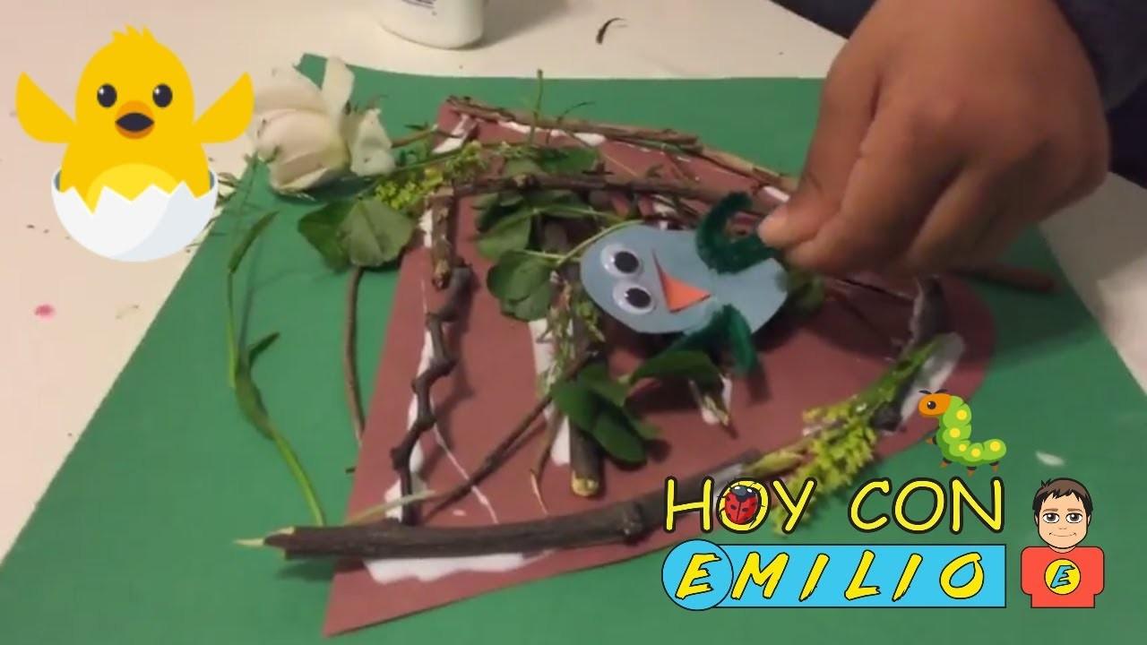 UN NIDO con PAJARITOS Manualidades Con Emilio diy Arts and Crafts for Kids