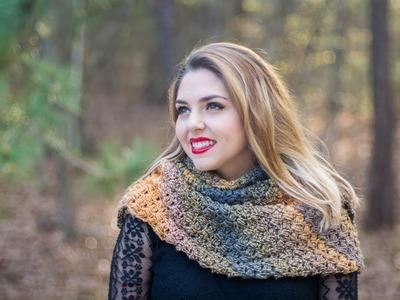 2 Chal otoñal tejido a crochet