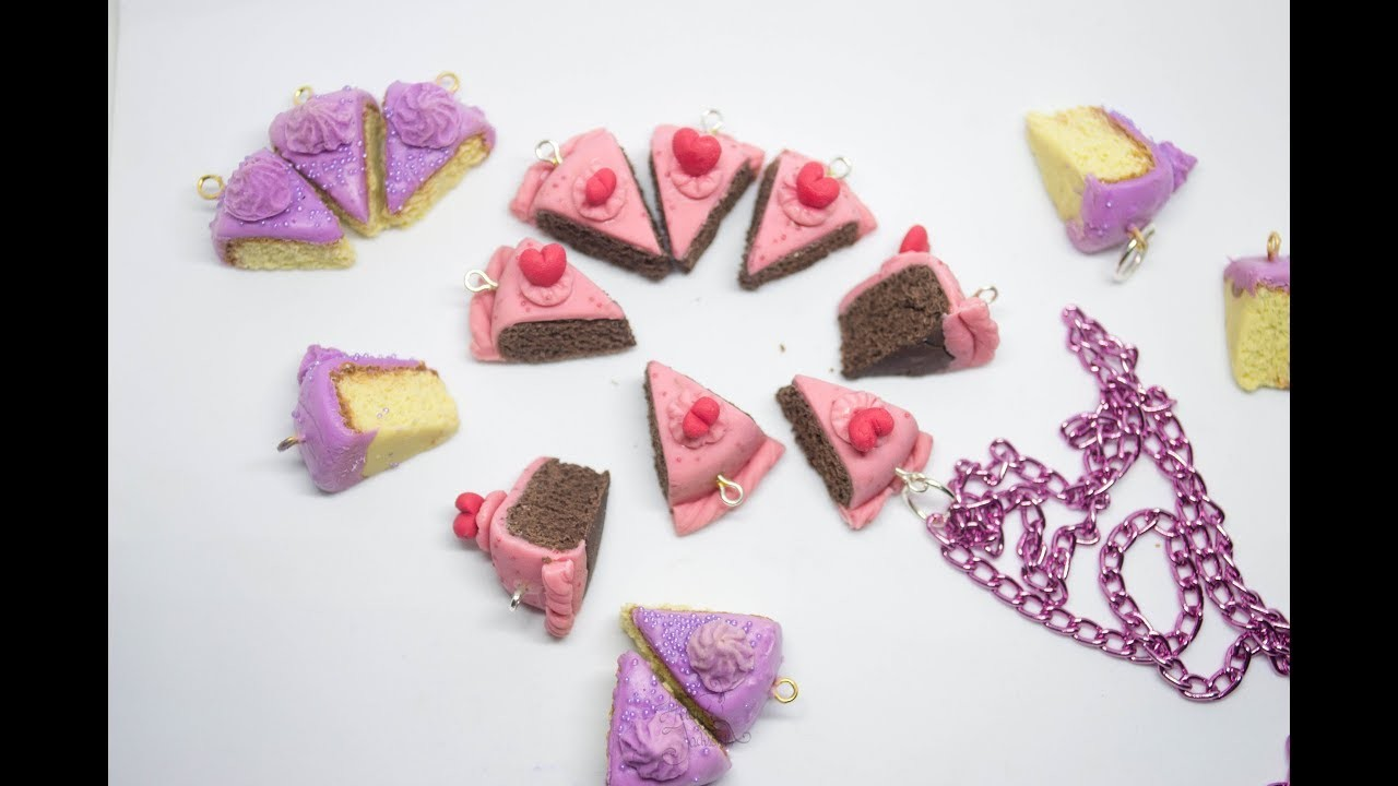 Accesorios de Pastel de Chocolate   Porcelana Fría ???? Chocolate Cake Slices Charms Polymer Clay