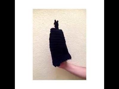 Batman tejido a crochet con técnica amigurumi