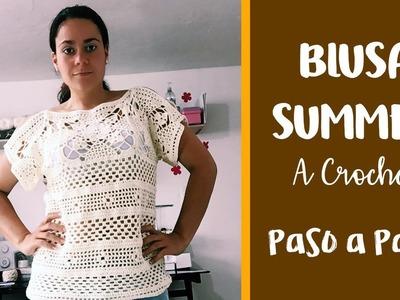 Blusa Summer a Crochet 2 - Paso a Paso