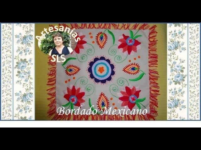 Bordado Mexicano paso a paso ♥ Almohadón ♥ Parte 1.3 ♥