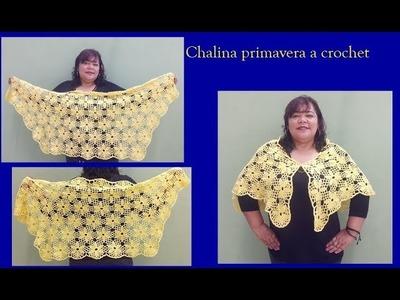 Chalina primavera a crochet