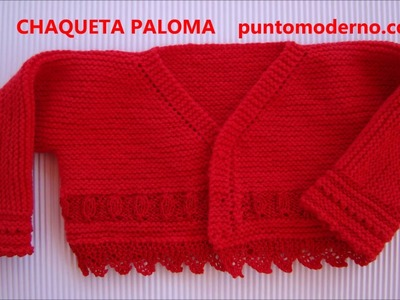 CHAQUETA de BEBÉ PALOMA- BABY CARDIGAN (ENGLISH PATTERN)