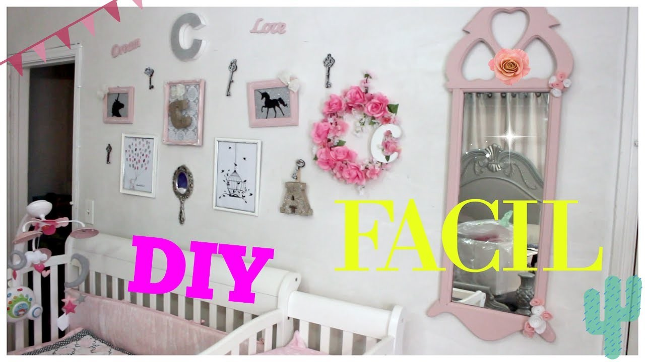 Como Decorar el Cuarto de una Niña sin Gastar Mucho DIY