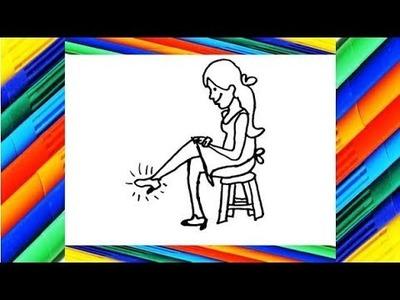 Como Dibujar a Cenicienta. How to draw cinderella. Como Dibujar una Princesa