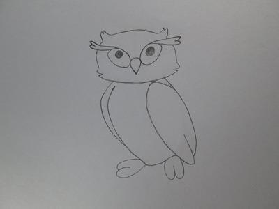 Cómo dibujar un búho