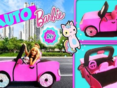 ???? Como hacer AUTO. COCHE para MUÑECAS Barbie RECICLANDO  CARTÓN! MANUALIDADES PARA MUÑECAS