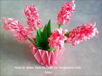 Cómo hacer flores Jacintos de papel.  Manualidades fáciles para niños