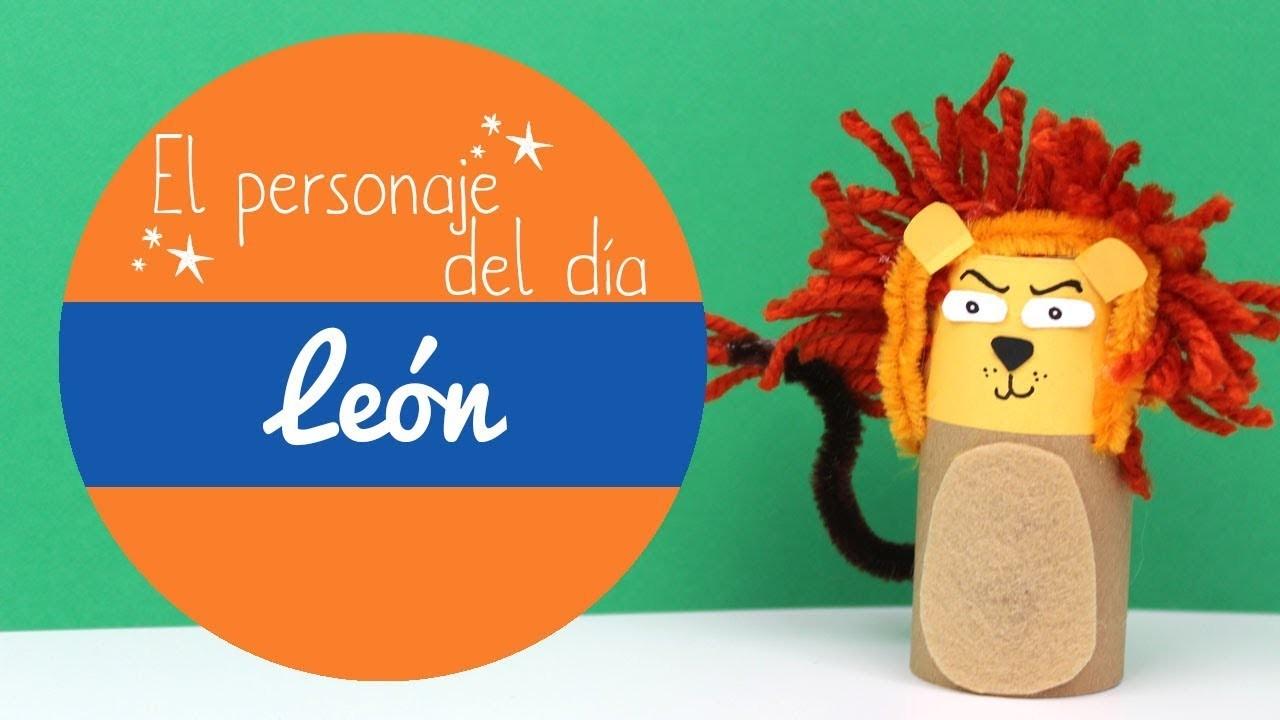 ¿Cómo hacer manualidades de leones? manualidades infantiles de leones con tubos de cartón