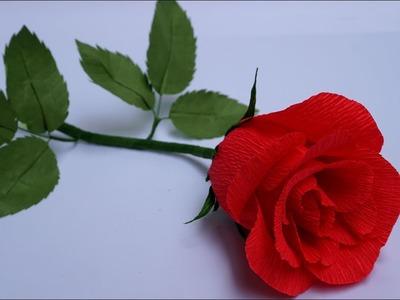Como hacer Rosas - DIY: Flor De Papel (rosas fáciles flores de papel) - Brotes De Creatividad