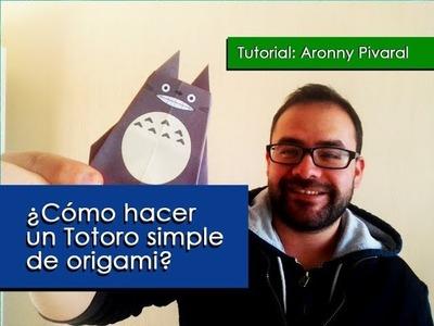 ¿Cómo hacer un Totoro simple de origami?