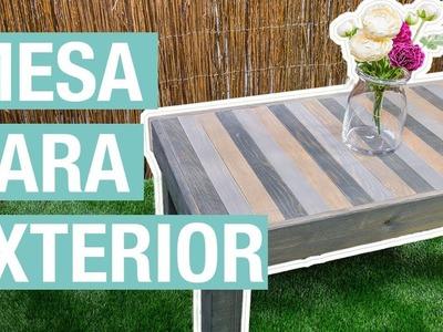 Cómo hacer una mesa de madera para el jardín · Handfie DIY