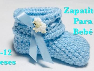 Como tejer Zapatitos | patucos | botinha de croché para bebe con ganchillo o crochet #123