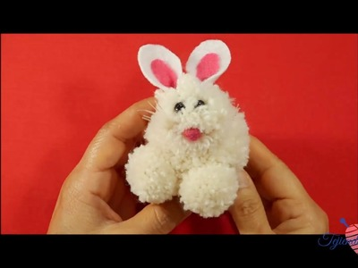 Conejito de pom pom haslos tu misma  y vende.how to make a rabbit