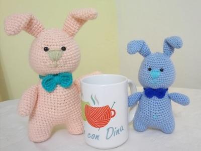 """Conejos Amigurumi a Crochet  """"CUERPO"""" Versión (ZURDO)"""