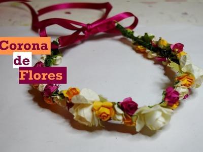 Corona de Flores - DIY - Tutorial - AnabelMonGar