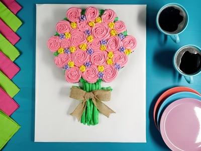 Craftología | Manualidades | Pastel de ramo de FLORES