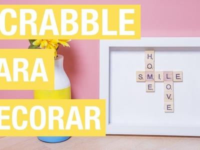 Cuadro con mensaje con fichas de Scrabble · Handfie DIY