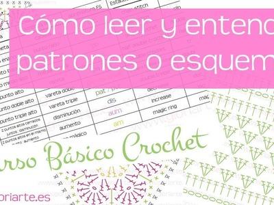 Curso básico crochet: leer patrones, esquemas o diagramas. read patterns or diagrams crochet