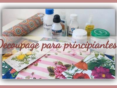 Decoupage para principiantes (Primera parte) - Diferentes tipos de pegamentos e imágenes