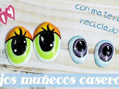 Diy ???? Cómo hacer ojos de plástico para muñecos.