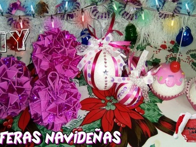 DIY ESFERAS NAVIDEÑAS  PARA TU ÁRBOL????. ????❄CHRISTMAS SPHERES FOR YOUR TREE????❄