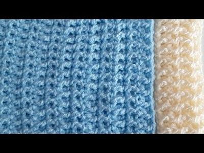 Elastico A Crochet O Ganchillo - Tejido De Dos Maneras