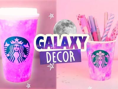 GALAXIAS EN VASOS DE CAFÉ- PORTALAPICES Y LAMPARÁ |¡Decora fácil y rápido! |#MiniDiy|