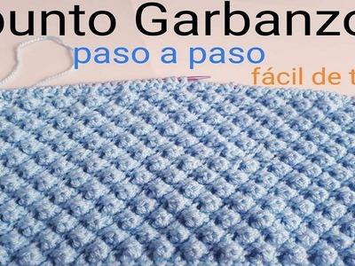 Knitting - Punto garbanzo - Punto puff - paso a paso - facil y rapido - punto fantasía - dos agujas