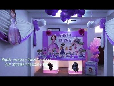 La princesa Sofia, decoracion temática, fiesta de niña, DIY
