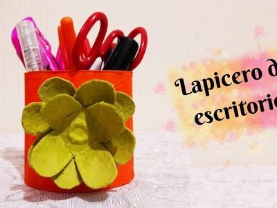 Lapicero de escritorio.portalapicera.manualidades con tubos de papel higiénico|Manualidades|DIY