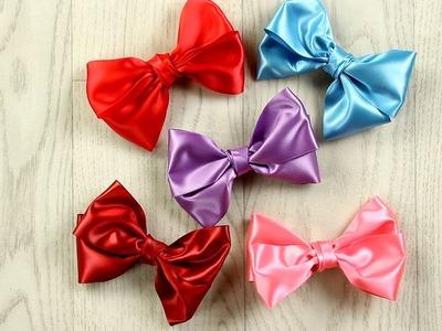 Lindo y útil: lazos para el cabello hechos con cintas de colores