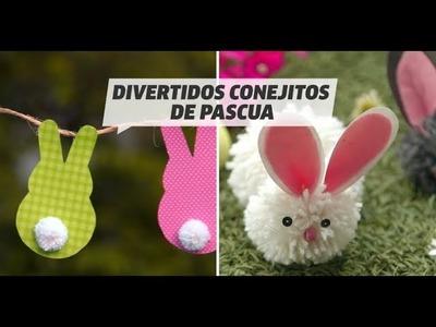 Manualidades de conejitos de pascua | DIY | VIX
