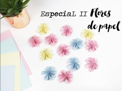 MANUALIDADES PRECIOSAS FLORES DE PAPEL, DIY ARGENTINA SCRAPBOOKING