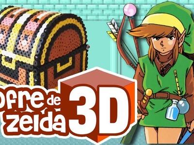 Pixel Bonus 04 :: Cofre de Zelda ( Zelda's Chest ) en 3D con Hama Beads - DIY