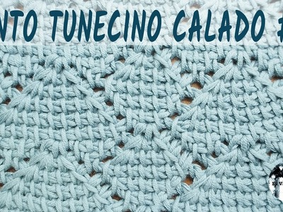 Punto calado tunecino #12 - Crochet tunecino - Tutorial paso a paso