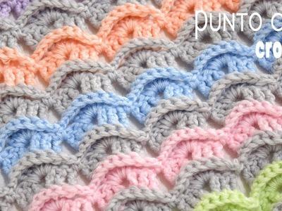 Punto Cucú tejido a crochet. Tejiendo Perú
