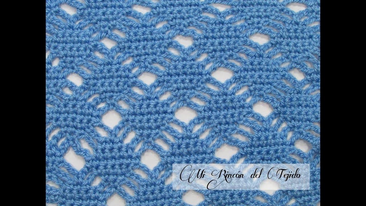 Punto fácil tejido a crochet - Mi Rincón del Tejido