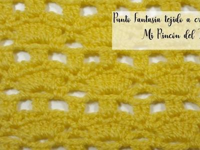 Punto fantasía a crochet muy fácil y rápido - Mi Rincón del Tejido