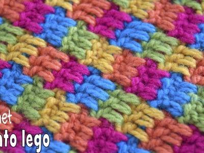 Punto lego tejido a crochet. Tejiendo Perú