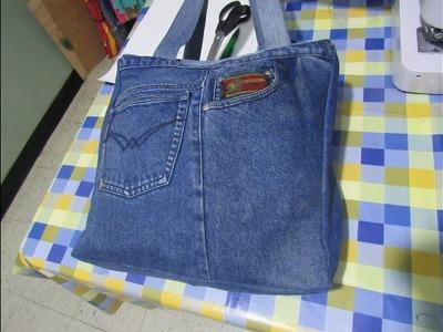 Reciclaje de Jeans: Bolso Viajero (Molde en Descripción)