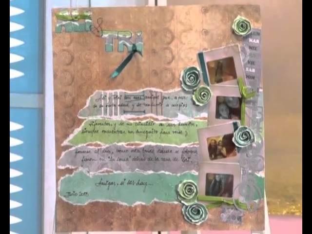 Scrapbooking - Carolina Ghelfi clase 1 en ManosalaobraTv
