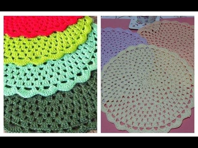 Servilletas Carpetas Tapetes Individuales paso a paso en crochet