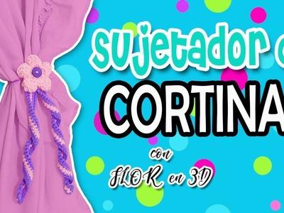 Sujetador de Cortinas tejido a crochet, Flor en 3D  | parte 2.2   RESORTE TEJIDO