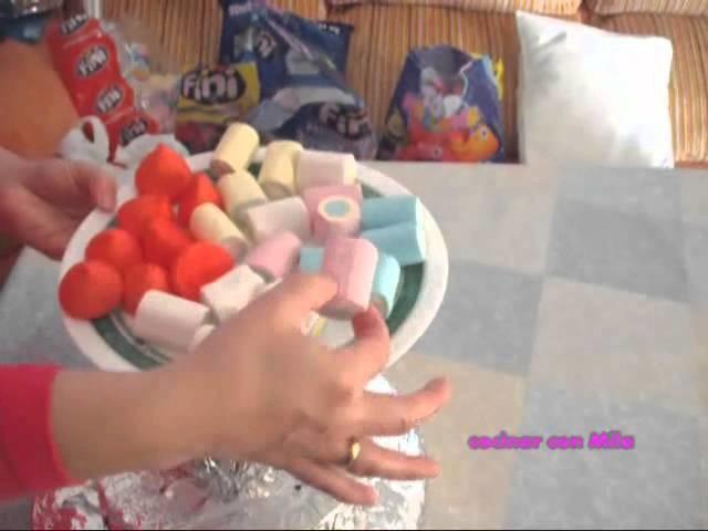 Tartas de gominolas paso a paso receta de cocina