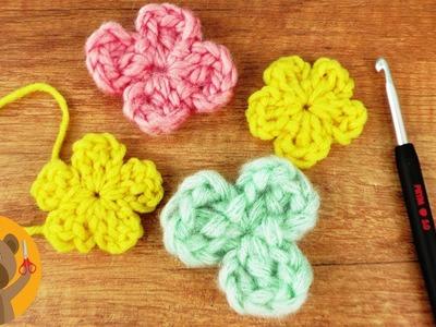 Tejer flores ????tutorial super fácil para principiantes|Decoración para primavera con restos de lana
